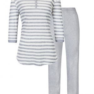 Mey Pyjama Meleerattu Vaaleanharmaa / Ecru