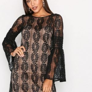 Michael Kors Bell Sleeve Lace Dress Loose Fit Mekko Black