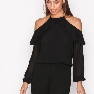 Michael Kors Cold Shoulder R Playsuit Loose Fit Mekko Black