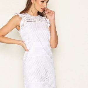 Michael Kors Combo Eyelet S / S Dress Kotelomekko White