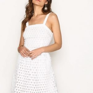Michael Kors Diamond Crochet Dress Skater Mekko White
