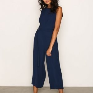 Michael Kors Dring Belt Jumpsuit Navy