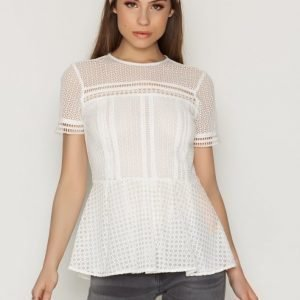 Michael Kors Eyelet Mix S / S Top Pusero Ecru