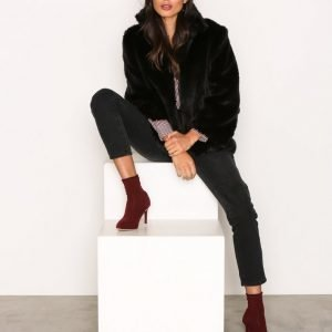 Michael Kors Faux Fur Jacket Tekoturkki Black