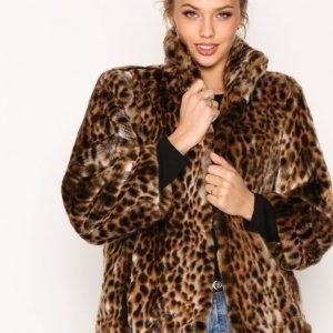 Michael Kors Faux Fur Jacket Tekoturkki Leopard