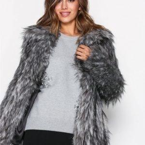 Michael Kors Faux Fur Peacoat Tekoturkki Gunmetal