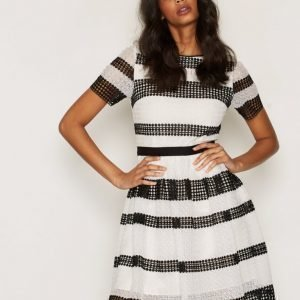Michael Kors Graphic Cr Stripe Dress Skater Mekko Black