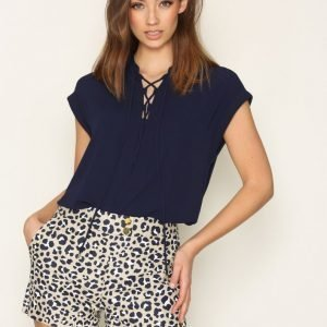Michael Kors Lace Up Top Arkipaita Navy