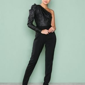Michael Kors Lurez Jqd Jmpst Jumpsuit Black