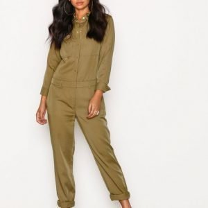 Michael Kors Relaxed Jumpsuit Green