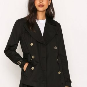 Michael Kors Short Pleated Trench Trenssitakki Black