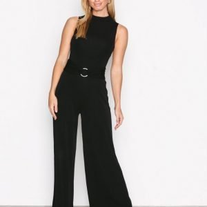 Michael Kors Sl Mock Nk Jumpsuit Black