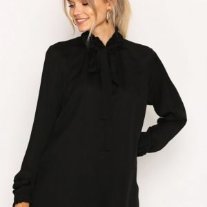 Michael Kors Tie Neck Top Pusero Black