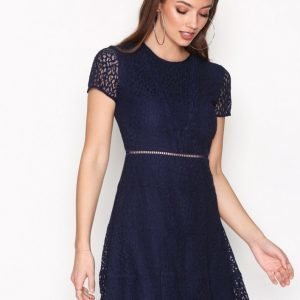Michael Kors Yala Lace Dress Skater Mekko Navy