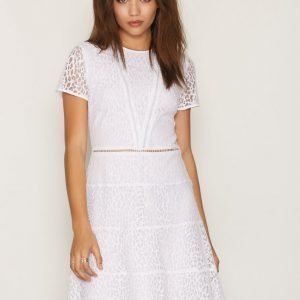 Michael Kors Yala Lace Dress Skater Mekko White