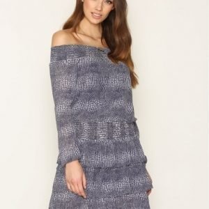 Michael Kors Zephyr Reptile Dress Loose Fit Mekko Navy