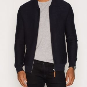 Minimum Ashwood Knit Pusero Dark Navy