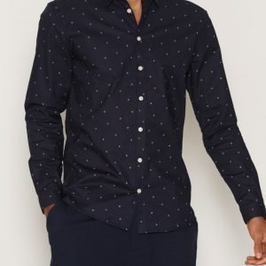 Minimum Brookman Shirt Kauluspaita Dark Navy