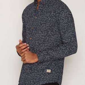 Minimum Crest Shirt Kauluspaita Dark Navy