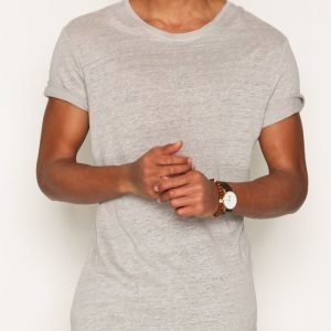 Minimum Declan T-shirt T-paita Light Grey Melange