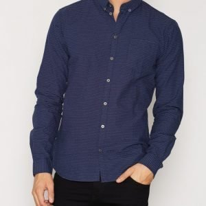 Minimum Duxford Shirt Kauluspaita Dark Blue