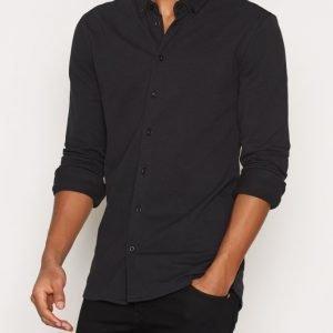 Minimum Stuart Shirt Kauluspaita Black