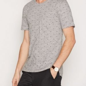 Minimum Trevor T-shirt T-paita Light Grey Melange