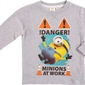Minions Despicable me Collegepusero Melange grey