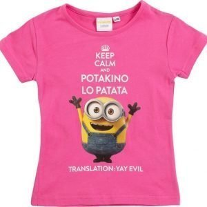 Minions Despicable me Pusero Dark pink