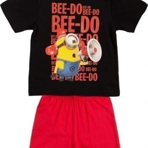 Minions Despicable me Yöpuku Black/Red