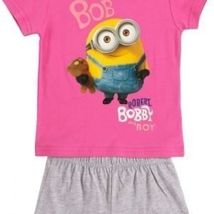 Minions Despicable me Yöpuku Fuxia/Light grey