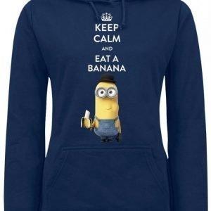 Minions Keep Calm And Eat A Banana Naisten Huppari