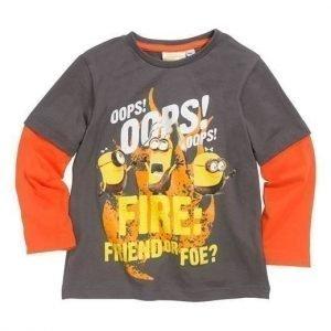Minions T-paita Harmaanruskea