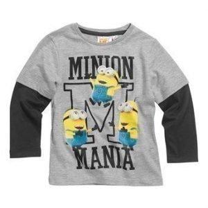 Minions T-paita Mel. vaaleanharmaa