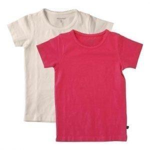 Minymo T-paita 2-Pakkaus Kirsikka Valkoinen