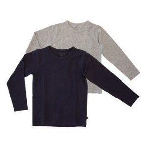 Minymo T-paita 2-Pakkaus Laivastonsininen Mel. harmaa