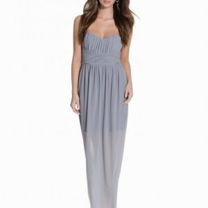 Miss Selfridge Bandeau Maxi Dress Maksimekko Grey