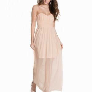 Miss Selfridge Bandeau Maxi Dress Maksimekko Light Pink
