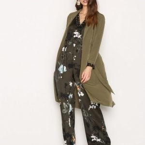 Miss Selfridge Channel Duster Coat Pitkä Takki Dark Green