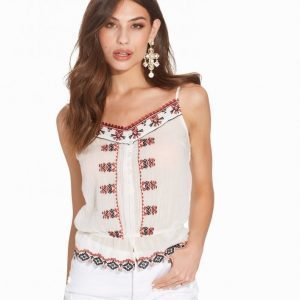 Miss Selfridge Contrast Embroidered Top Toppi Multi