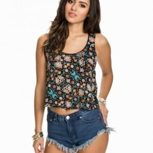 Miss Selfridge Crochet Back Crop Toppi Multi