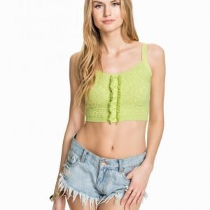 Miss Selfridge Frill Bra Toppi Light Green