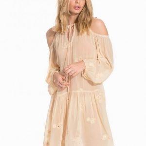 Miss Selfridge Mirrorwork Beach Dress Loose Fit Mekko Peach