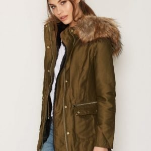 Miss Selfridge Puffer Jacket Untuvatakki Khaki