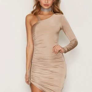 Miss Selfridge Slinky 1 Shoulder Dress Kotelomekko Brown