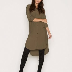 Miss Selfridge Utility Shirt Dress Pitkähihainen Mekko Dark Green