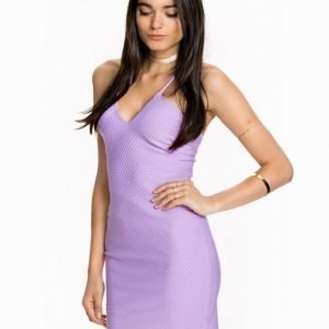 Miss Selfridge V Neck Bodycon Dress Purple