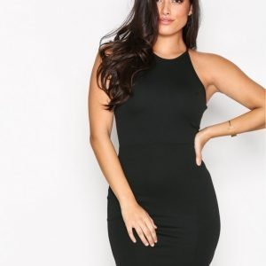 Missguided 90'S Neck Mini Dress Kotelomekko Black