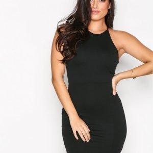 Missguided 90'S Neck Mini Dress Kotelomekko Black