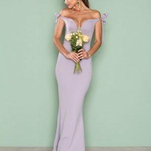 Missguided Bardot Tie Maxi Dress Maksimekko Purple